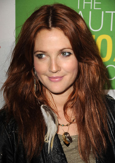 drew barrymore hair red new look beauty stylist