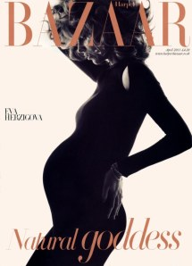 eva hertzigova harper's bazaar beauty health pregnancy blog