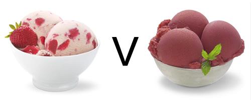 sorbet versus ice cream which is healthier calories fat