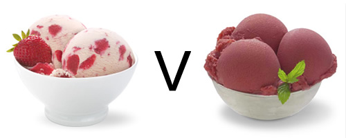 sorbet versus ice cream which is healthier calories fat