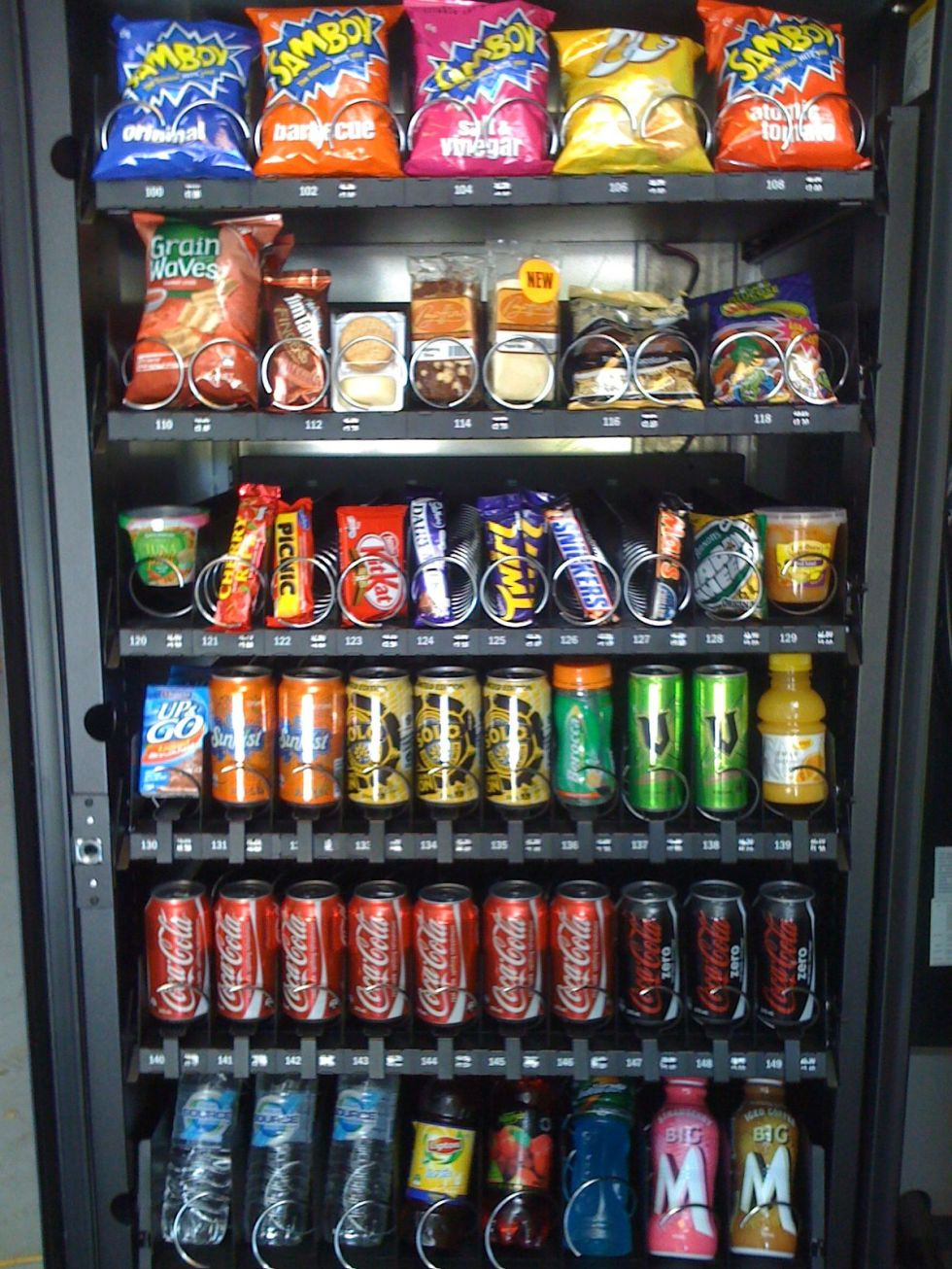 vending machine snacking afternoon weight loss
