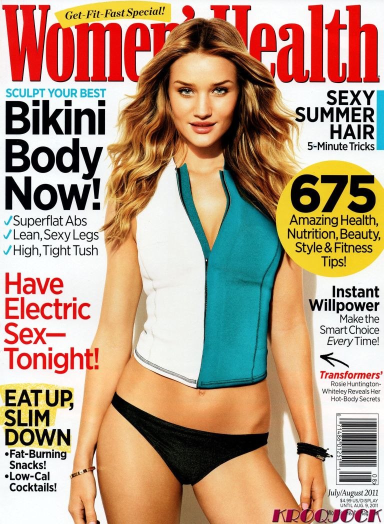Rosie Huntington-Whiteley on Women's Health cover FHM sexiest transformers