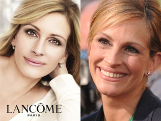 julia roberts before and after lancome airbrushing photoshopping banned ad