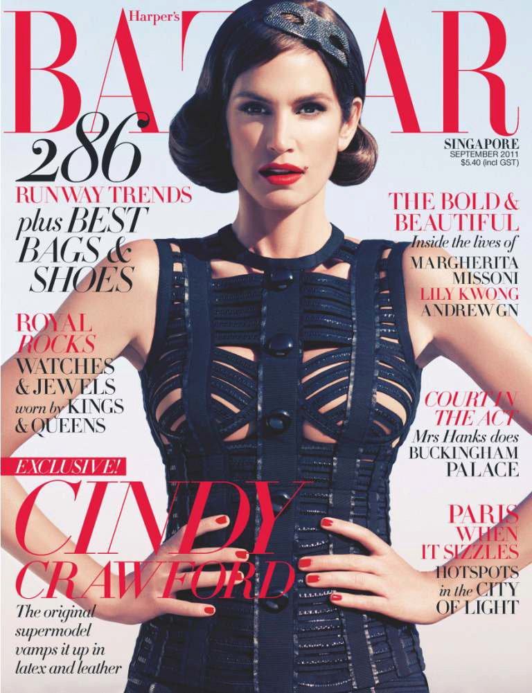 harpers-bazaar-singapore-september-2011 cover cindy-crawford