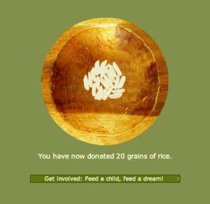 free rice million users world food programme hunger