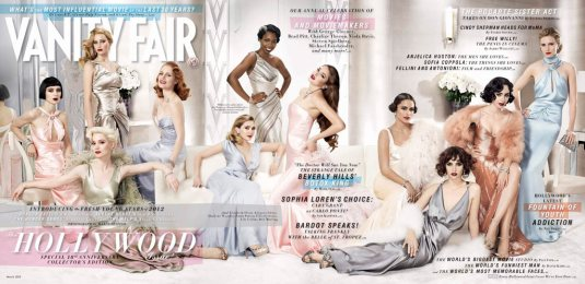 Rooney Mara, Mia Wasikowska, Jennifer Lawrence, Jessica Chastain vanity fair hollywood issue 2012 March-2012-fold-out